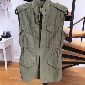 Zara Woman Army Green Vest L